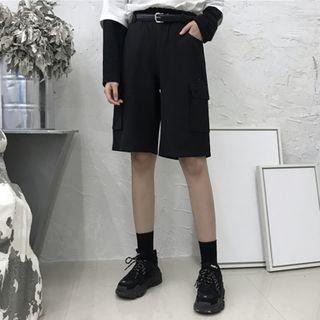 Porstina - Plain Cargo Shorts