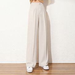 JULIONNE - High-Waist Wide Leg Dress Pants