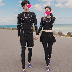 Hipper(ヒッパー) - Couple Matching Long-Sleeve Rashguard / Skirt / Shorts / Pants / Set