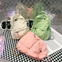 Szeta - Pocket Detail Canvas Backpack