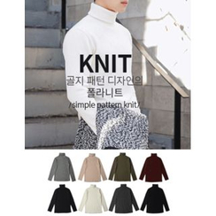STYLEMAN - Rib-Knit Turtleneck Sweater