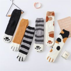 TAHLIA - Cat Fleece Socks