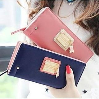 BABOSARANG - Bear Charm Long Wallet