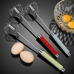 Cheemee - Stainless Steel Push Down Rotary Whisk