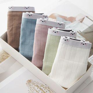 MEOKO - Set of 5: Bear Print Panties