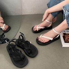 DURAC - Ankle-Strap Flat Sandals