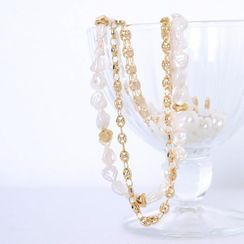 Lemite - Faux-Pearl Layered Necklace