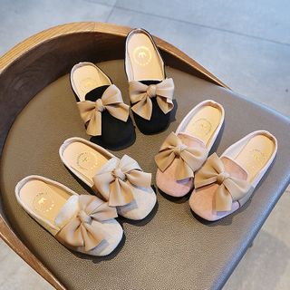 Luco - Kids Bow-Accent Mules