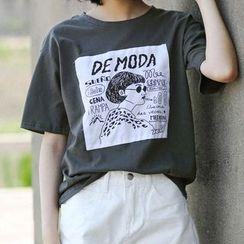 三木社 - 印花短袖T裇