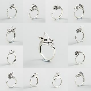 CHOSI - 925 Sterling Silver Zodiac Animal Open Ring