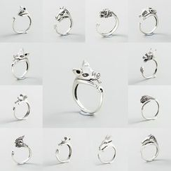 CHOSI - 925 純銀生肖動物開口戒指