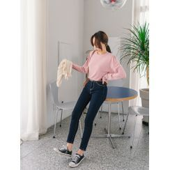J-ANN - Stitched Washed Skinny Jeans