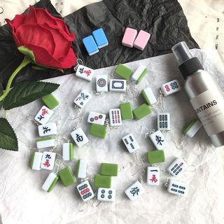 Riceo - Miniature Mahjong Earrings