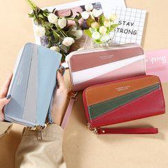 Bonnie Lonny - Color Panel Faux Leather Long Wallet