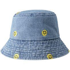 HARPY - 笑臉刺繡牛仔漁夫帽