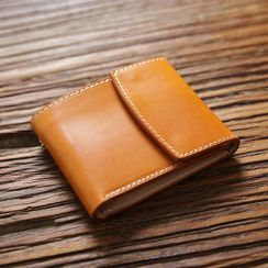Wavecho(ウェーブチョ) - Genuine Leather Trifold Wallet