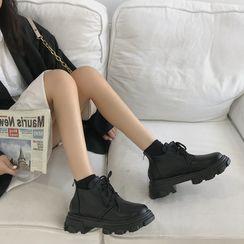Snowflick - Platform Lace-Up Shoes