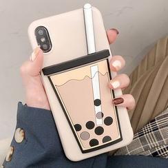 Milk Maid - Bubble Milk Tea Print Phone Case - iPhone 6 / 6 Plus / 7 / 7 Plus / 8 / 8 Plus / X/ XR / XS / XS MAX