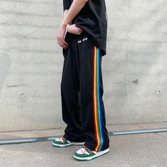 Phoneus - Striped Wide-Leg Pants