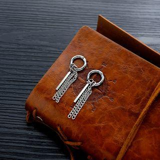 Tenri - Stainless Steel Chain & Bar Fringed Earrings