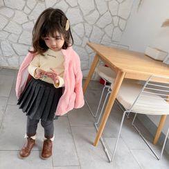 Blue Papa - Kids Insert Leggings Mini A-Line Skirt