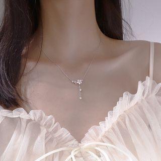 Hansha - 925纯银花朵吊坠项链