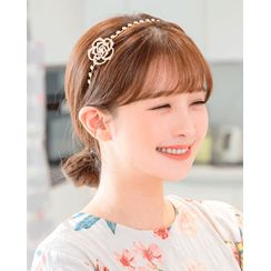 Miss21 Korea - Rhinestone Rose Hair Band