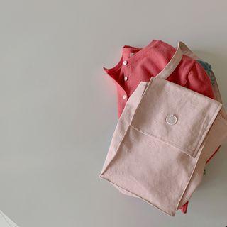 CHERRYKOKO - Flap Pastel Canvas Shopper Bag