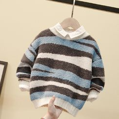 Ouron - Kids Color-Panel Sweater
