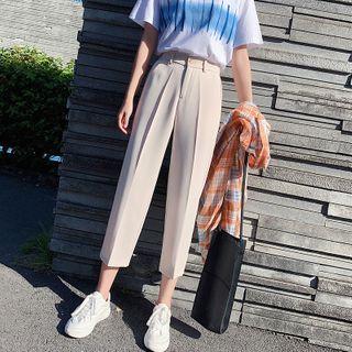 Hevnir - High-Waist Cropped Tapered Pants