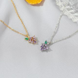 Mulyork - 水钻水果吊坠项链