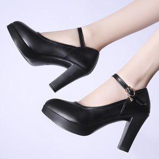Weiya Chunky Heel Platform Mary Jane