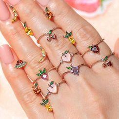 Mulyork - 水钻水果戒指