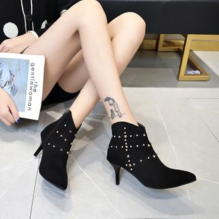 Aneka - Studded High-Heel Ankle Boots