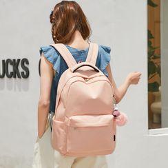 Bag Hub(バッグハブ) - Plain Zip Backpack