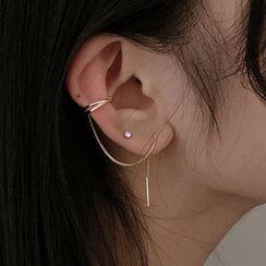 CatSoul - Rhinestone Threader Earring
