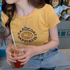 Serendipitous - 印花短袖短款T恤