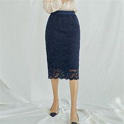 MAGJAY - Laced Pencil Skirt