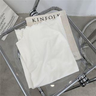 Clitoria - Long-Sleeve Mock-Neck Knit Top