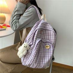 Rocktail - Plaid Zip Backpack