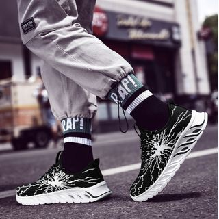 Auxen - Printed Platform Sneakers