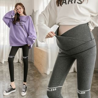 NEUF - Maternity Lettering Stomach Lift Leggings