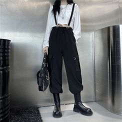 LINSI - Suspender Straight Fit Pants