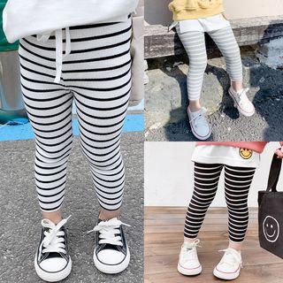 Ruban - Kids Striped Cropped Leggings