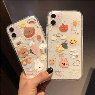 Huella(ヒューラ) - Transparent Printed Phone Case For iPhone SE / 7 / 7 Plus / 8 / 8 Plus / X / XS / XR / XS Max / 11 / 11 Pro