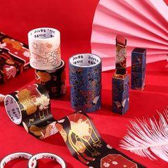 Eranso - Set of 10: Metallic Print Masking Tape