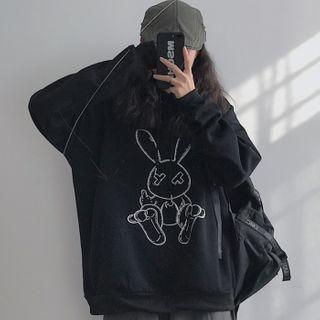 Giuliana - Rabbit Print Hoodie