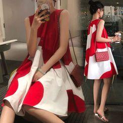Thous - 孕婦雙色無袖直身連衣裙