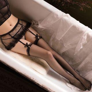 Cleopatra - 蕾丝吊带袜 / 薄纱丝袜 / 套装
