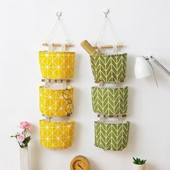 Lindo Bags(リンドバッグス) - Patterned Fabric Hanging Organizer